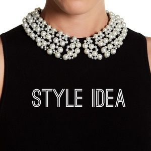 Faux Pearl Collar Style Necklace